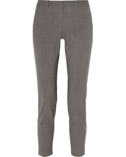 Theory - Gray Testra Stretch-wool Straight-leg Pants - Lyst