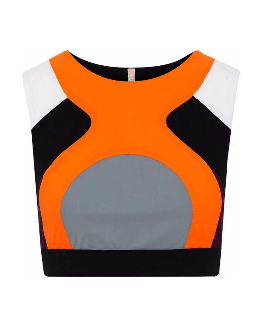 No Ka 'oi - Orange Lani Color-block Scuba Sports Bra - Lyst