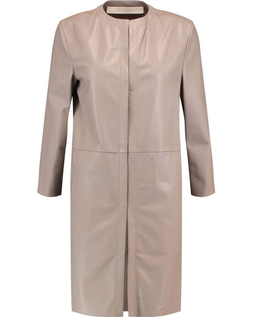 DROMe - Multicolor Leather Coat - Lyst
