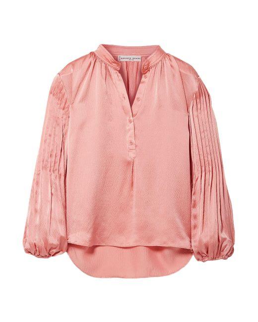 Apiece Apart - Pink Woman Silk-satin Top Antique Rose - Lyst