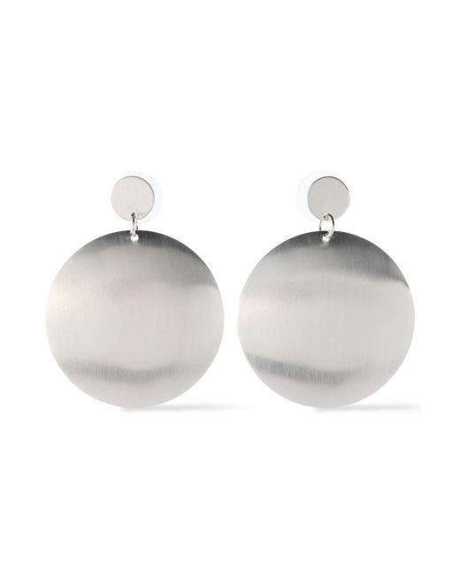 Kenneth Jay Lane - Metallic Woman Silver-tone Earrings Silver - Lyst