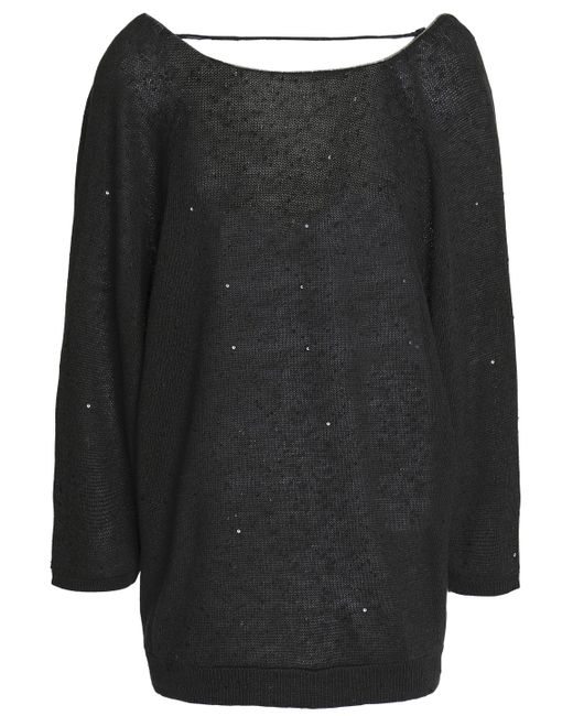 Brunello Cucinelli Woman Open-back Bead-embellished Cashmere And Silk-blend Top Dark Gray Size XL Brunello Cucinelli Unisex Clearance Pay With Visa ZsuNjSYs