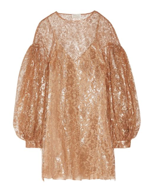 Zimmermann | Multicolor Lavish Metallic Lace Mini Dress | Lyst