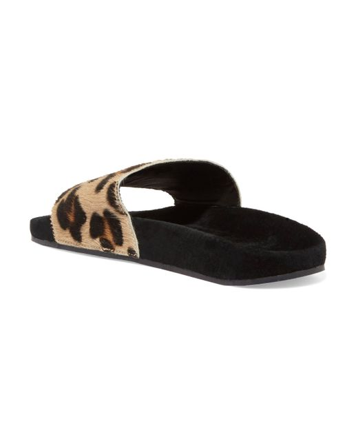 d36f8885abed Adidas Originals Brown Leopard-print Calf Hair And Suede Slides Lyst .