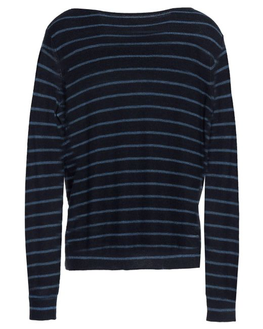 Vince - Blue Striped Cashmere Sweater - Lyst