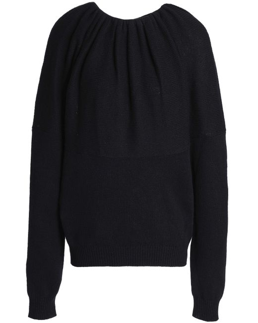 Jil Sander - Black Gathered Cashmere Sweater - Lyst