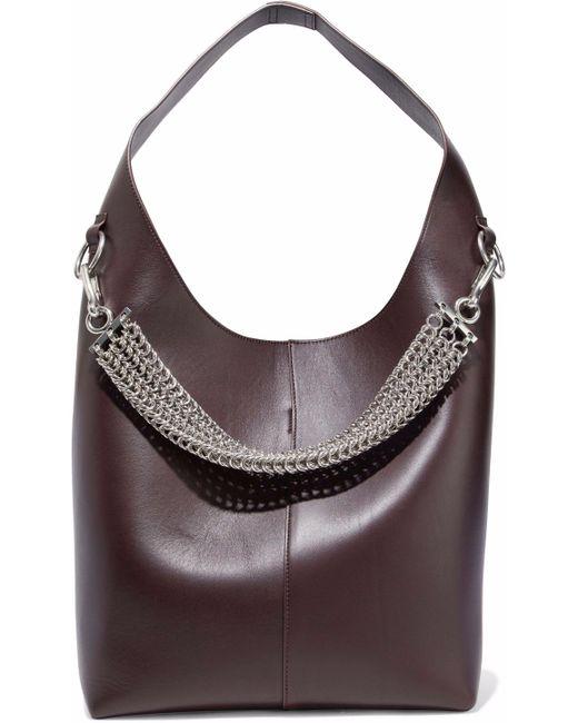 Alexander Wang - Brown Genesis Chain-embellished Leather Shoulder Bag - Lyst
