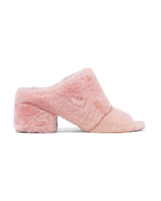 3.1 Phillip Lim - Pink Cube Shearling Sandals - Lyst