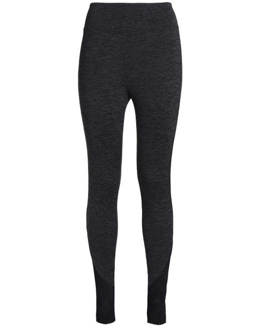 Koral - Black Mesh-trimmed Mélange Stretch leggings - Lyst
