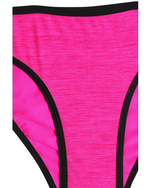 590cab1b32e4 ... Adidas - Multicolor Woman Stretch-mesh Halterneck Bikini Fuchsia - Lyst