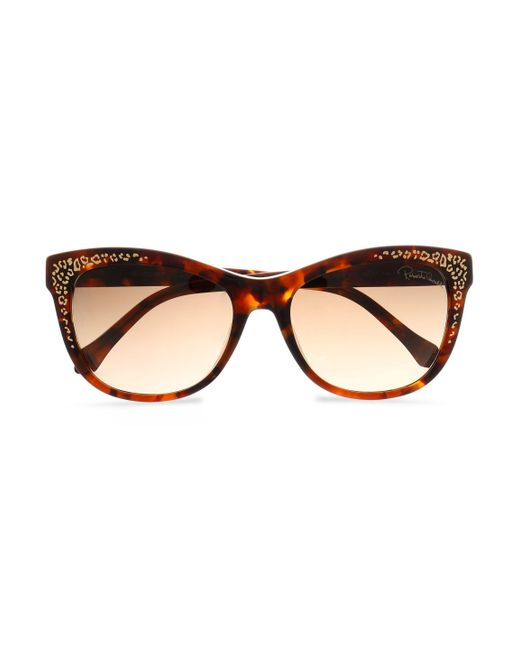 Roberto Cavalli - Brown Cat-eye Tortoiseshell Acetate And Gold-tone Sunglasses Animal Print - Lyst