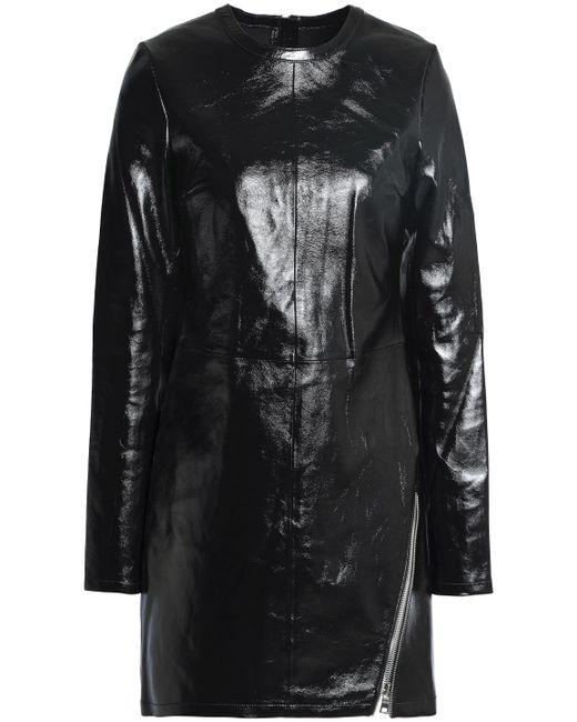 RTA - Black Zip-detailed Leather Mini Dress - Lyst