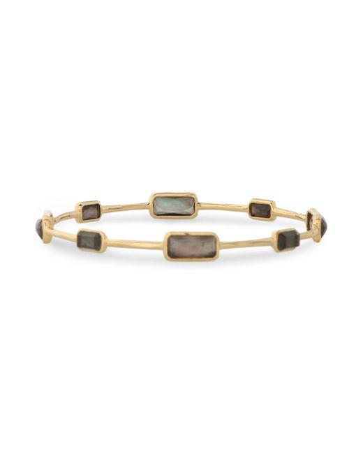 Ippolita - Metallic 18-karat Gold, Quartz And Shell Bangle - Lyst