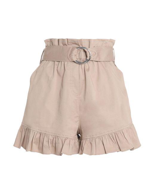Cinq À Sept - Natural Braxton Ruffle-trimmed Cotton-blend Twill Shorts - Lyst