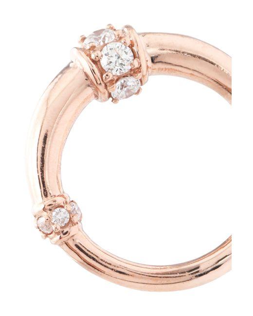 Carbon & Hyde Carbon & Hyde Woman Dharma 14-karat Rose Gold Diamond Earrings Rose Gold Size VQwa6