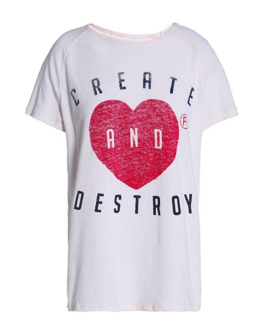 Zoe Karssen - Pink Printed T-shirt - Lyst