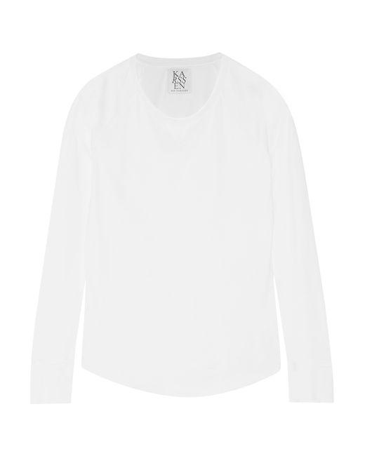 Zoe Karssen | White Cotton And Modal-blend Jersey Top | Lyst