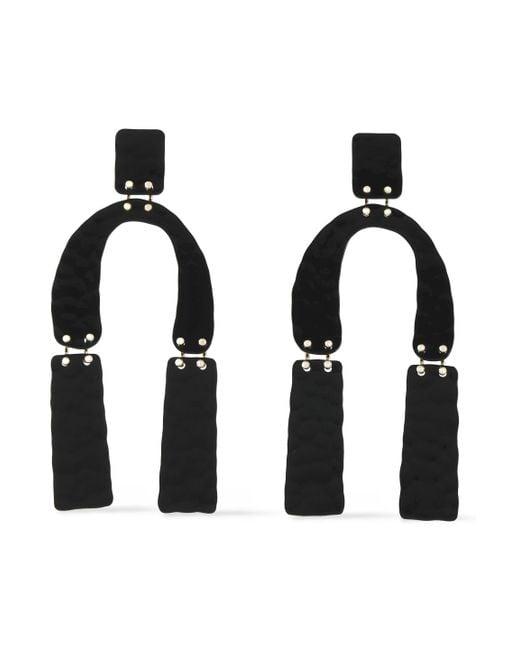 Proenza Schouler - Woman Hammered Coated Metal Earrings Black Size -- - Lyst