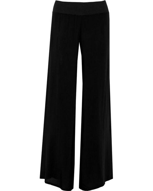 Enza Costa | Black Chiffon Wide-leg Pants | Lyst