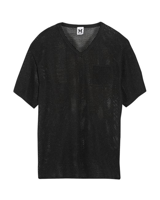 M Missoni   Black V-neck Silk-jersey Top   Lyst