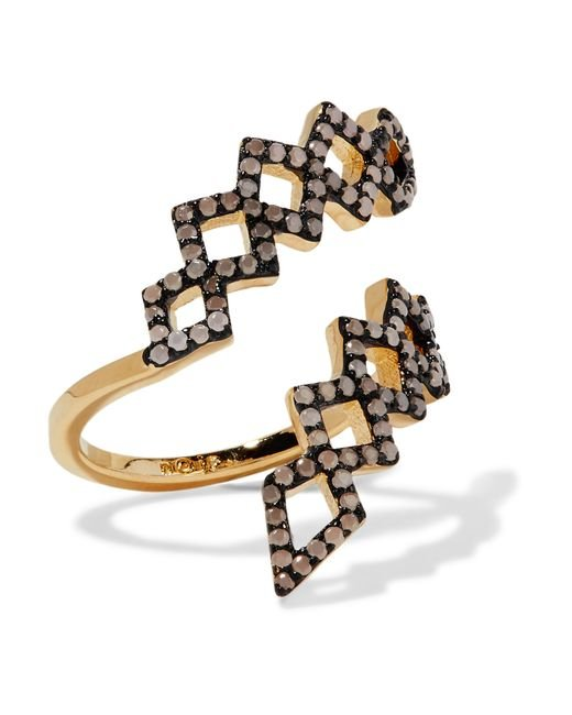 Noir Jewelry | Metallic Mineral Springs Gold-tone Stone Ring | Lyst