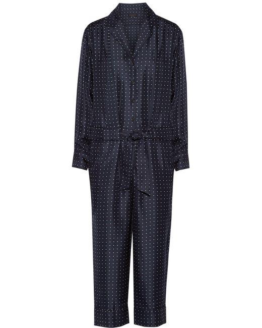 Rag & Bone | Blue Arthur Polka-dot Silk-twill Jumpsuit | Lyst