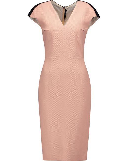 Roland Mouret   Pink Pickwick Woven Cotton-blend Dress   Lyst