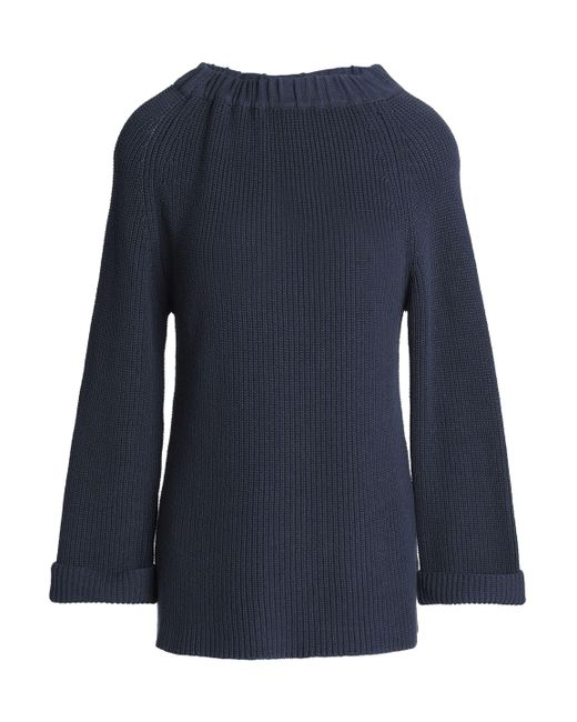 Goat - Blue Ribbed Cotton Sweater - Lyst