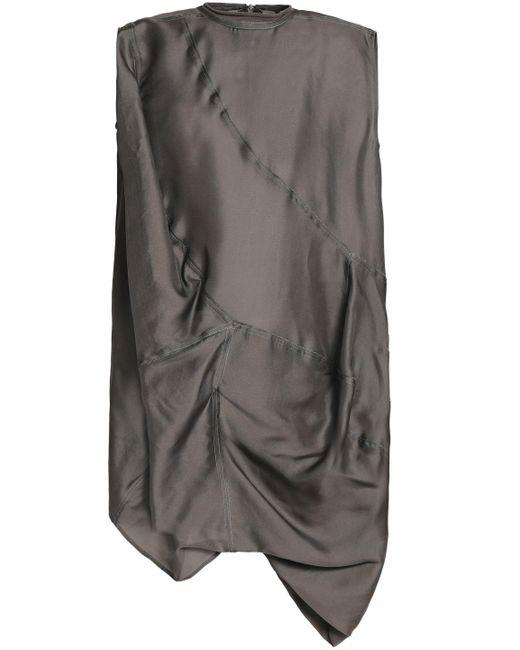 7448e1f1c2974 Rick Owens - Multicolor Woman Draped Silk-organza Tunic Anthracite - Lyst  ...