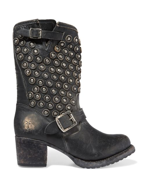Frye | Black Natalie Short Engineer Boots | Lyst