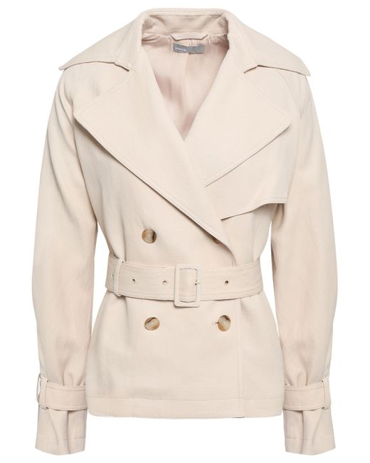 Vince - Natural Double-breasted Canvas Trench Coat Beige - Lyst