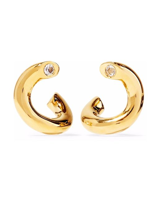 Elizabeth and James - Metallic Gold-tone Crystal Earrings - Lyst
