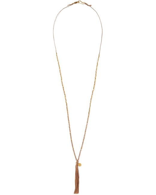 Chan Luu | Brown Beaded Necklace | Lyst