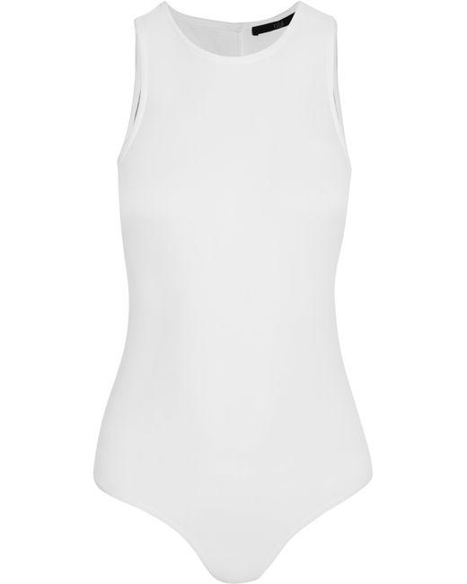 Tibi | White Stretch-cady Bodysuit | Lyst