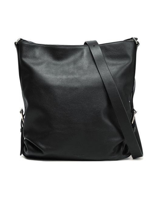 fefda2e8e560 Michael Kors Woman Leather Shoulder Bag Black in Black - Lyst