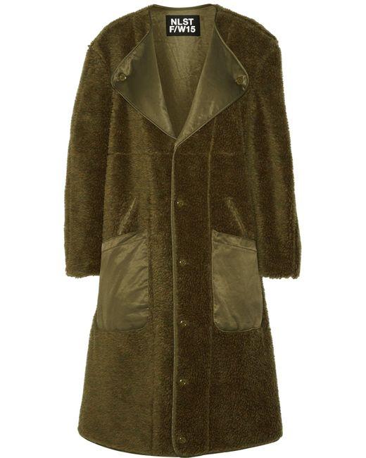 NLST | Green Wool Coat | Lyst