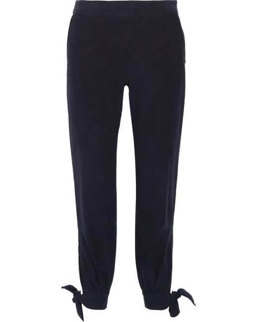 Enza Costa | Blue Knotted Silk-noil Tapered Pants | Lyst