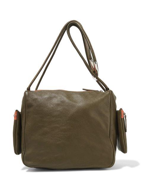 M missoni Leather Shoulder Bag in Green