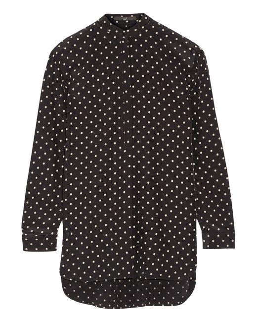 Tibi | Black Diffusion Polka-dot Silk Crepe De Chine Blouse | Lyst