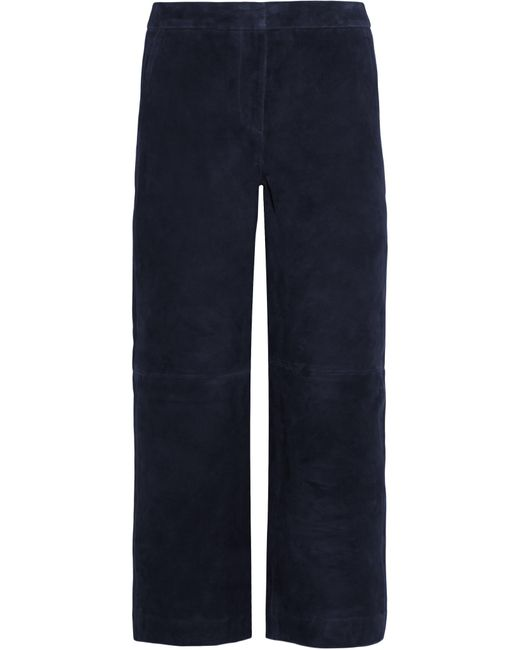 J.Crew | Blue Collection Cropped Suede Wide-leg Pants | Lyst