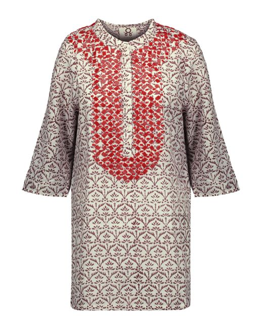 Figue - Multicolor Jasmine Bead-embellished Printed Cotton-gauze Tunic - Lyst
