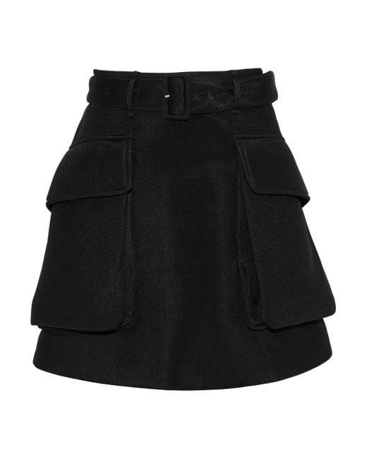 Simone Rocha - Black Belted Neoprene Mini Skirt - Lyst