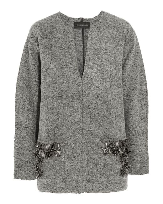 By Malene Birger - Gray Francoise Embellished Boiled Wool-blend Sweater - Lyst