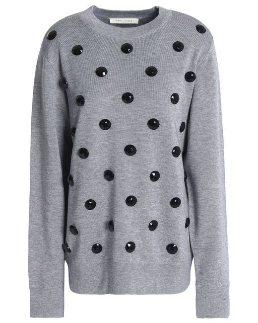 Marc Jacobs - Gray Knitted Sweater - Lyst