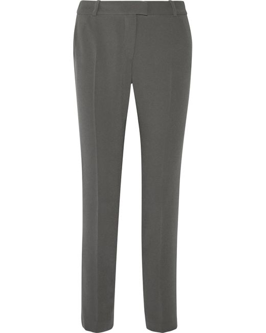 Joseph | Gray Ben Crepe Straight-leg Pants | Lyst