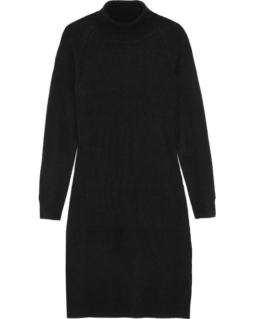 Iris & Ink | Black Charlotte Wool And Cashmere-blend Turtleneck Sweater Dress | Lyst