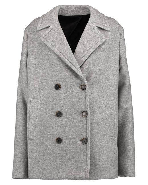 MSGM | Gray Brushed Twill Coat | Lyst