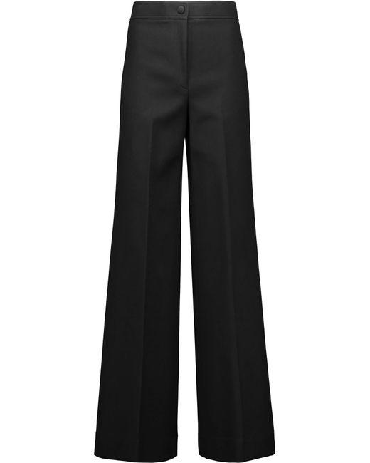 Helmut Lang | Black Cotton-blend Wide-leg Pants | Lyst