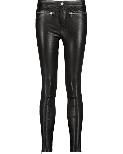 J Brand | Black Emma Stretch-leather Skinny-leg Pants | Lyst