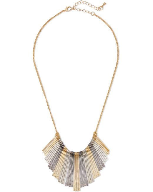 Kenneth Jay Lane   Metallic Gold-tone And Silver-tone Necklace   Lyst